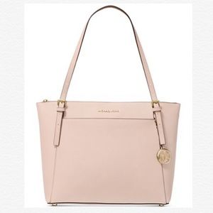 Michael Kors Pink Voyager East West Leather Tote